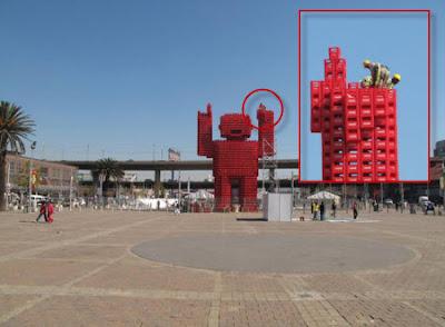 Robot gigante de Coca Cola en Sudáfrica