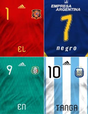 Crea la camiseta de tu equipo preferido con tu nombre y tu número