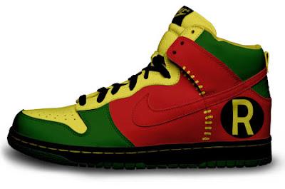Las zapatillas de Batman y Robin