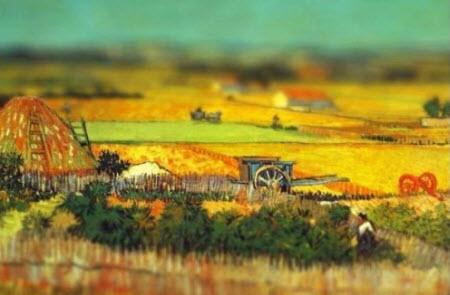 Cuadros de Van Gogh con efecto tilt-shift