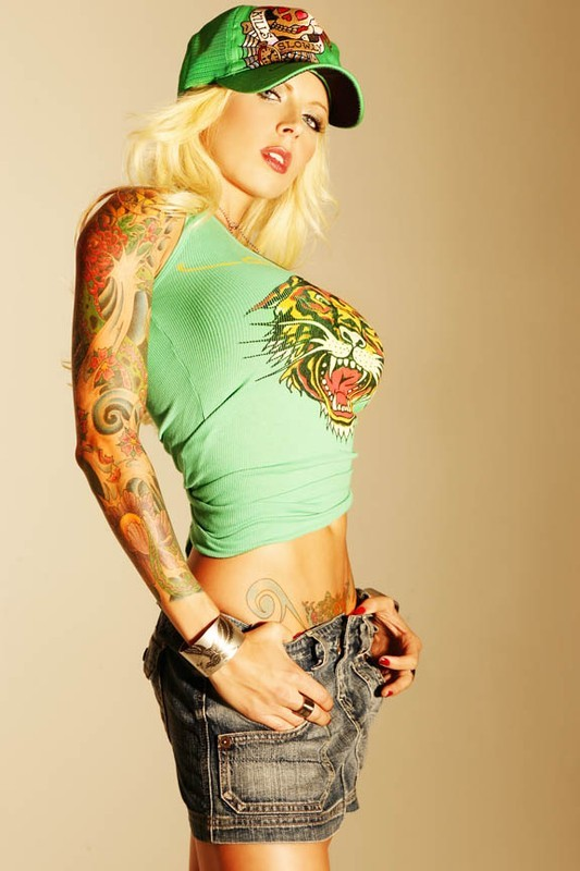 Blonde With Sexy Tattoos