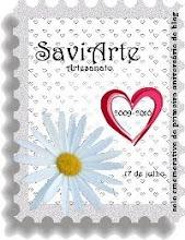 Selinho comemorativo do 1º aniversário da Saviarte