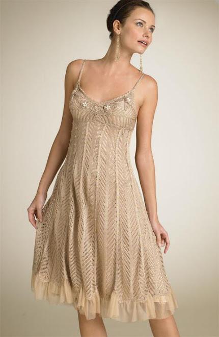 Vestido de Tiras beige