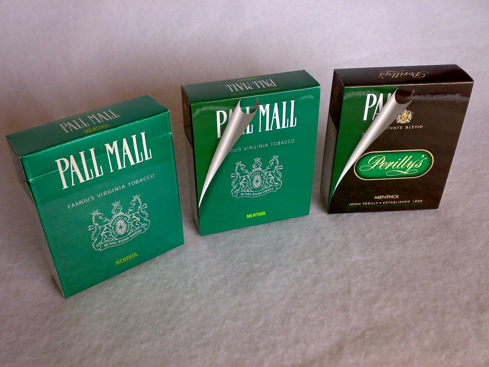 Pall mall menthol black