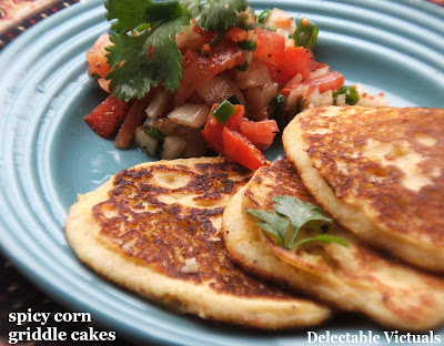weekend breakfast blogging WBB blog event easy recipe spicy corn griddle cakes