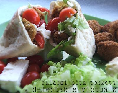 easy recipe vegetarian falafel mediterranean meal pita pockets