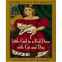 Saffron Tree book review Little Girl in a Red Dress with Cat and Dog Nicholson Cynthia von Buhler