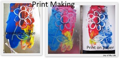 kids art simple print making