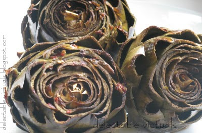 baked artichokes in balsamic vinegar marinade