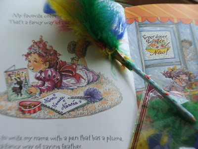 kids crafts plume pen pencil using colorful feathers
