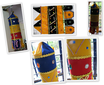 decorative cylindrical south indian style hangings easy to make