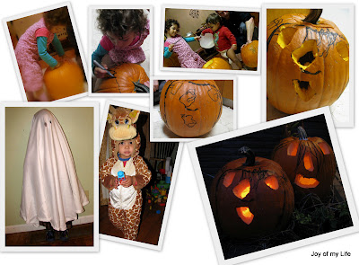 halloween trick or treat jack-o-lantern costumes