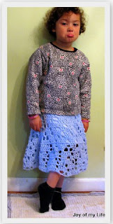 crochet skirt with flannel lining