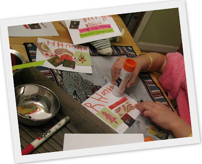 kids crafts christmas cards