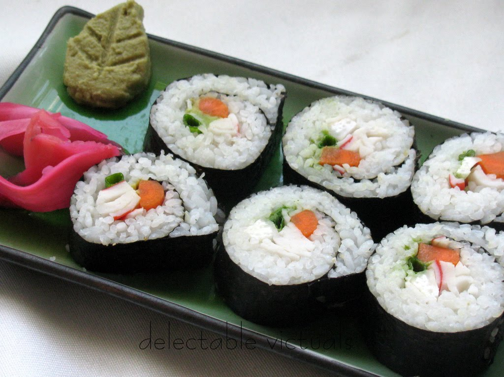 easy recipe sushi california rolls vegetarian Hosomaki