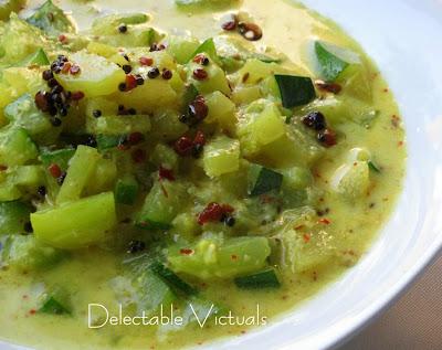 Kohlrabi and Zucchini in Creamy Cumin-Yogurt Sauce