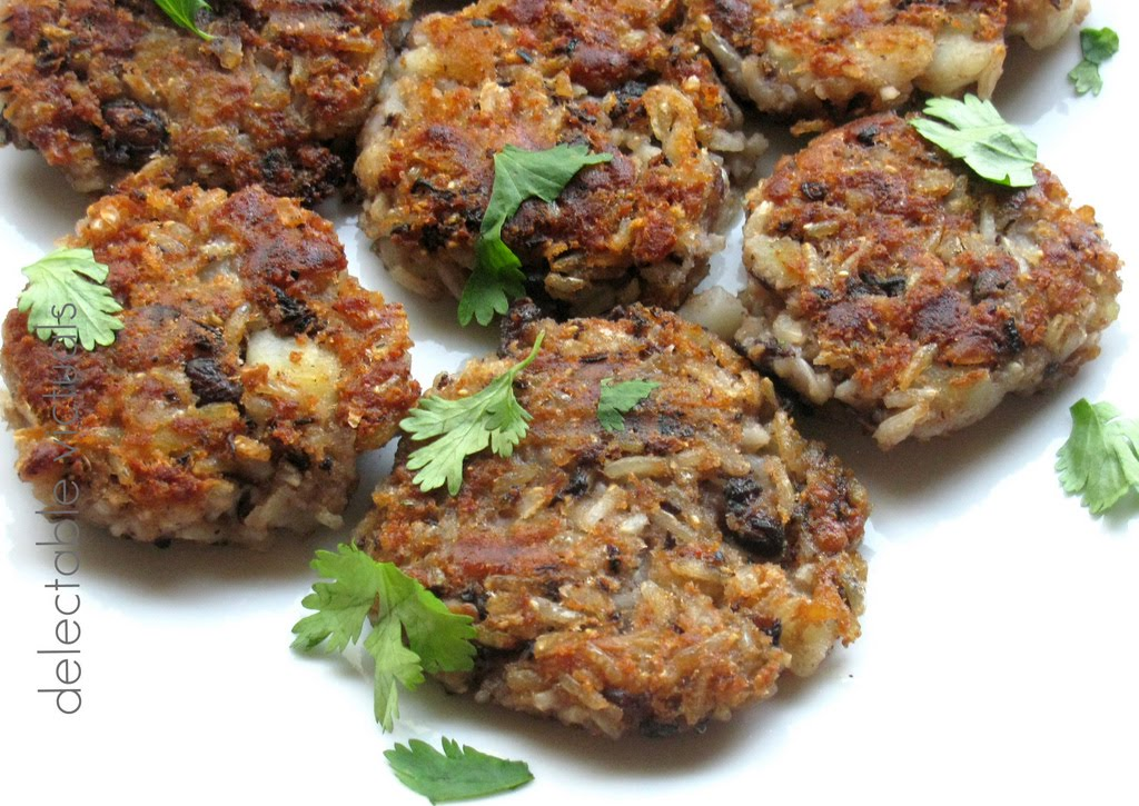 Delectable VictualsBlack Beans and Brown Rice Patties