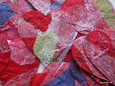 Kids Crafts: Valentine's Day Crafts ripped tissue paper hearts