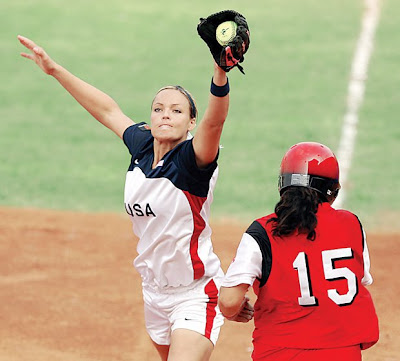 jennie finch playing softball. Jennie Lynn Finch (born