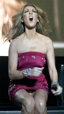 Upskirt Celine Dion