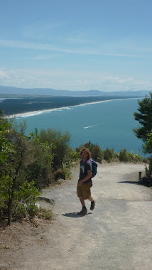 Doug climbing Mt Mauganui