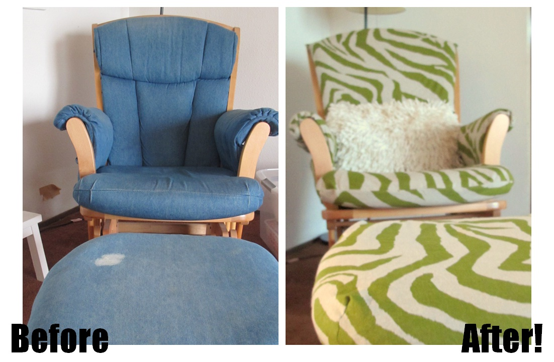Tutorial Recovering A Glider Chair Baby Ume