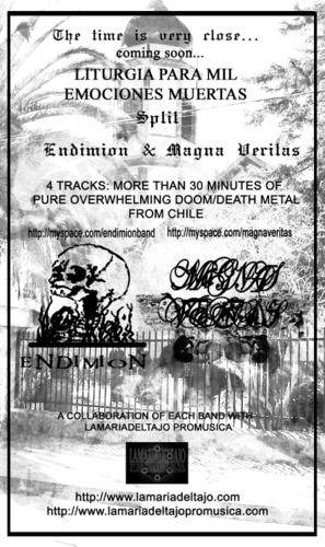 ENDIMION / MAGNA VERITAS    -   SPLIT CD   -   DOOM/DEATH METAL FROM CHILE -   COMING SOON