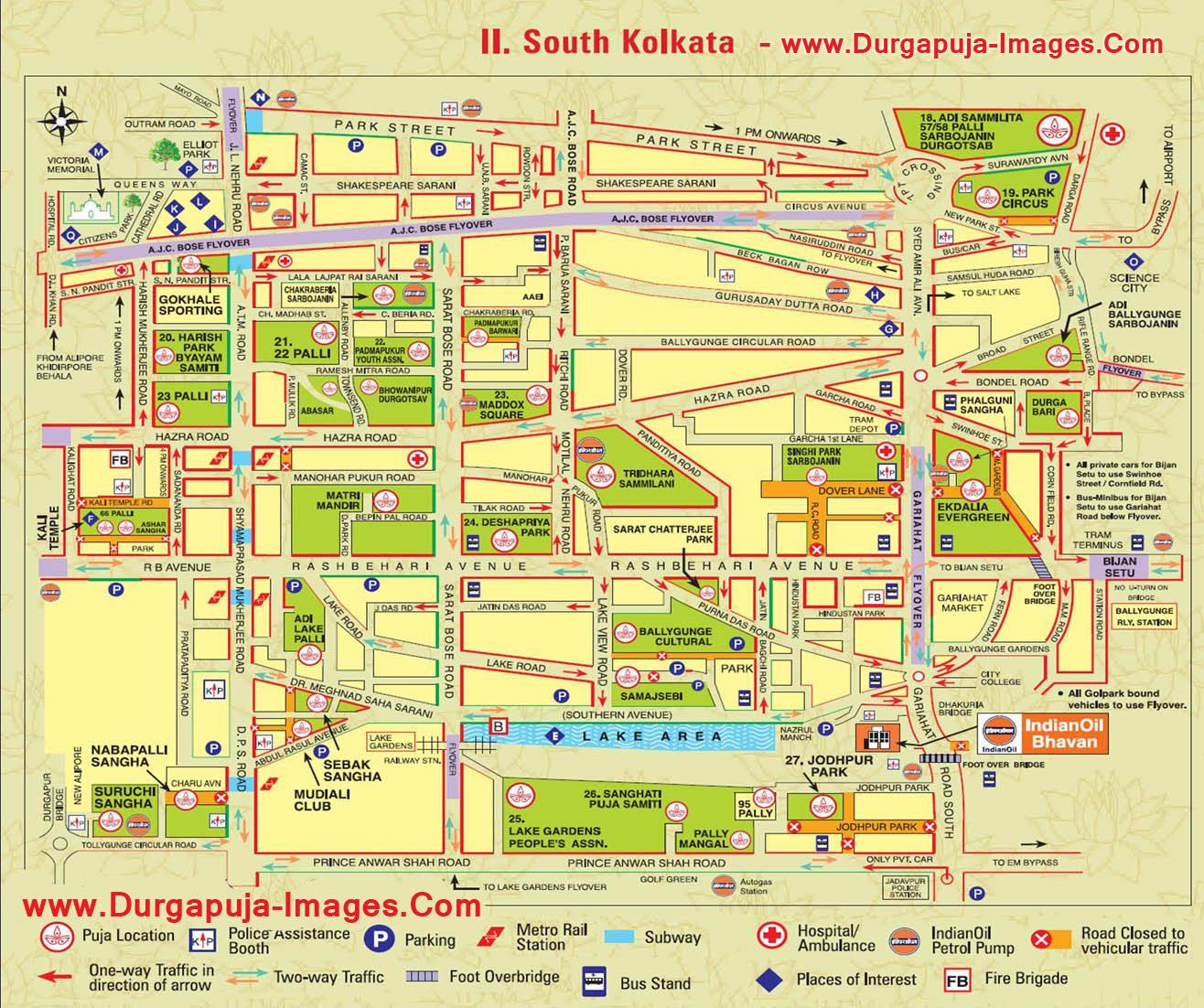 Durga Puja Map - Kolkata