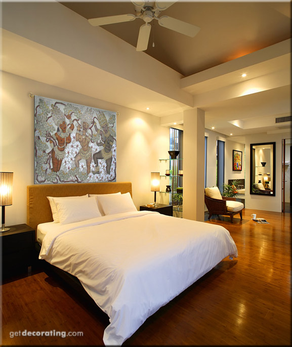 Art and Interior: Beautiful Silk Art for large Bedroom Walls