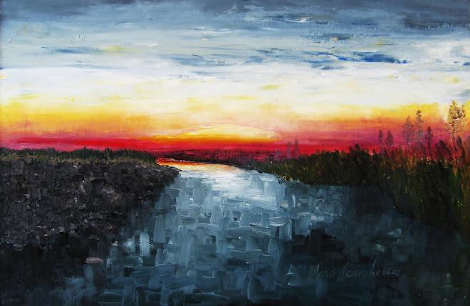 Crepuscolo sul fiume Orba