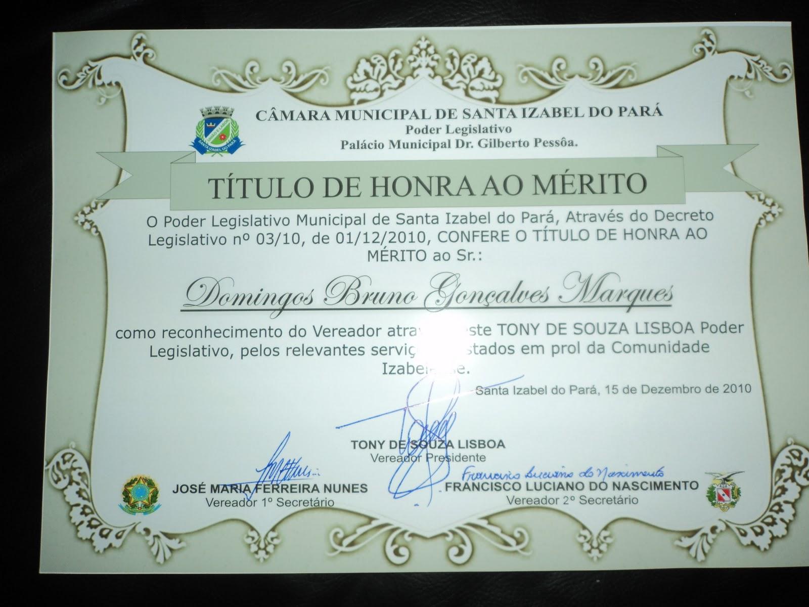 HONRA AO M  RITO