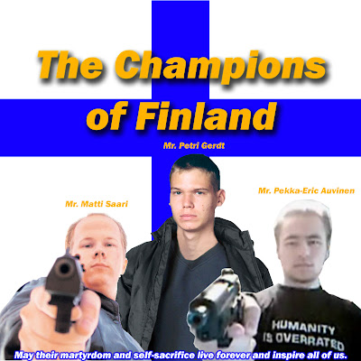 Pekka-Eric Auvinen, Petri Gerdt and Matti Saari Are The True Champions Of Finland And All Finns