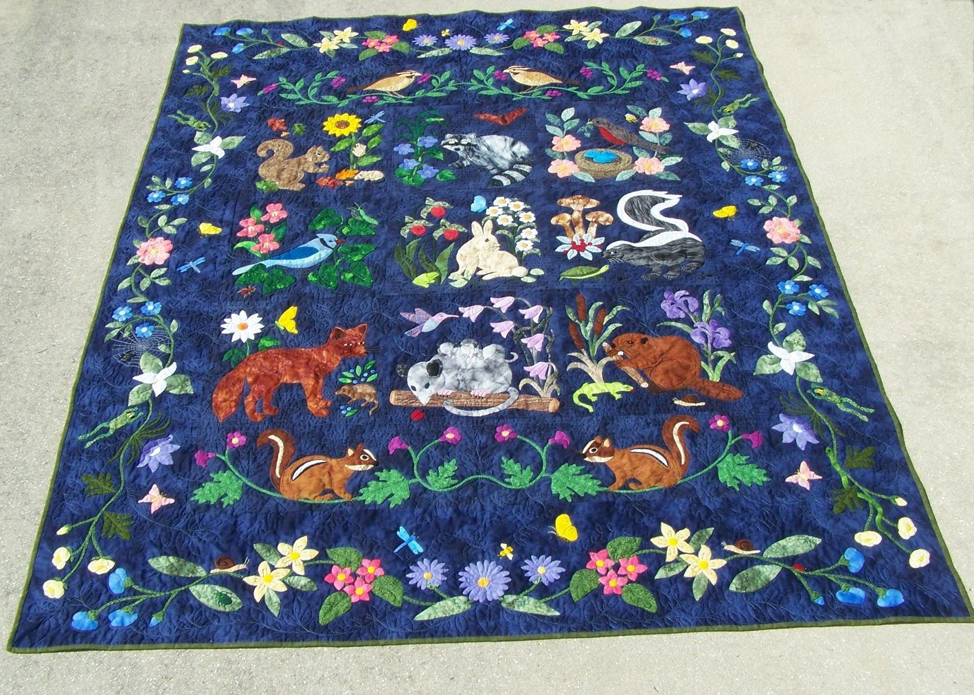 Quilts By Rosemary Woodland Creatures Quilt By Joyce Tomcho