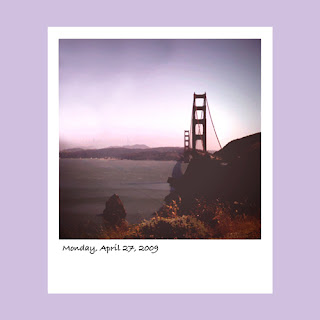 iPhone polaroid, Golden Gate Bridge