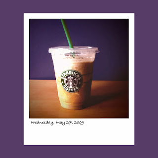 iPhone polaroid, Starbuck latte