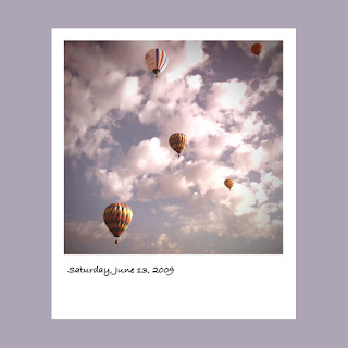 iPhone polaroid, hot air balloons, Windsor, wine country