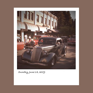 iPhone polaroid, vintage car, Peggy Sue's All American Cruise