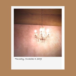 chandelier, iPhone polaroid
