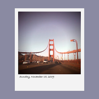 golden gate bridge, iPhone polaroid