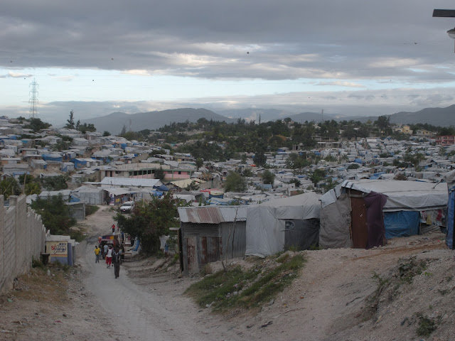 Tarp shelters in Delmas 33, an IDP camp