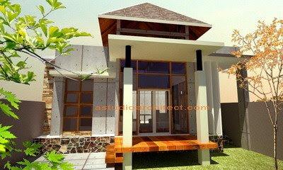 rumah modern on Rumah Pak Erik. Rumah modern dengan konsep tropis dan etnik
