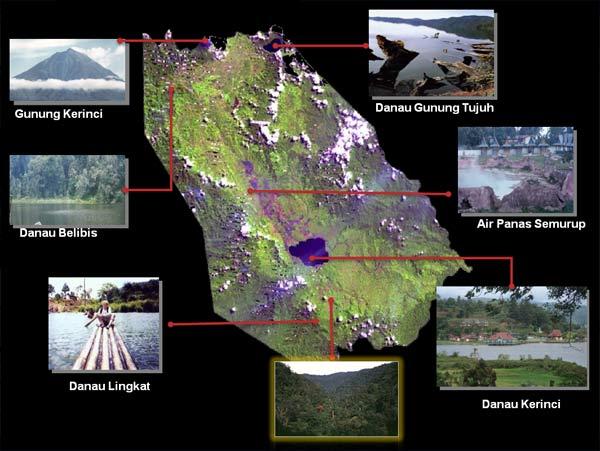 objek wisata Sungai Penuh dan Kerinci