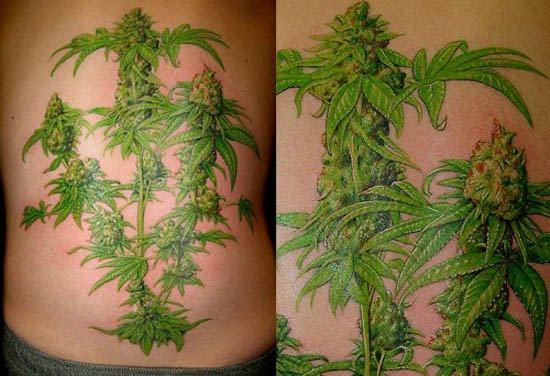 Tatuajes de marihuana: tatuajes alusivos al cannabis