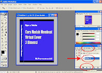 step 5 membuat sampul /cover virtual ebook 3 dimensi