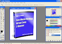 step 6 membuat sampul /cover virtual ebook 3 dimensi