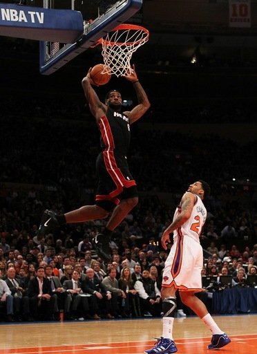 lebron james dunking