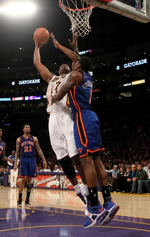 2010-2011 NBA Regular Season: Andrew Bynum Dunks On Amare Stoudemire