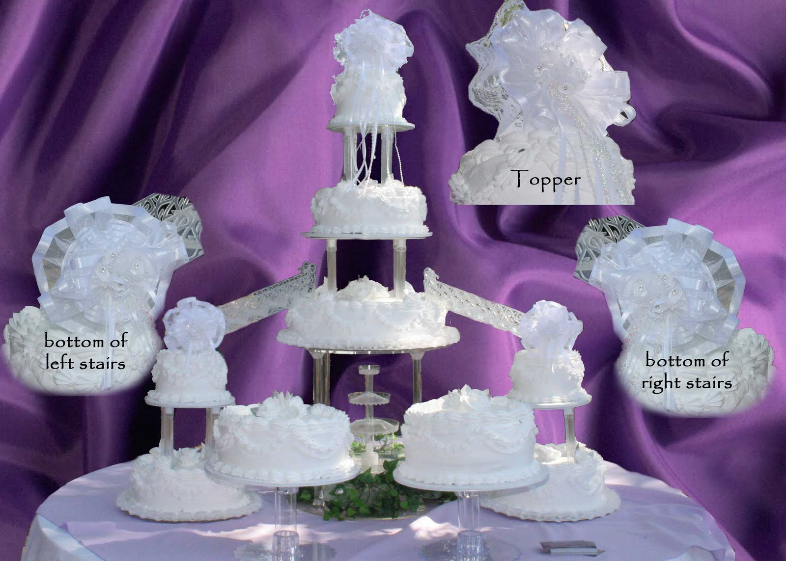 lighted wedding cake toppers