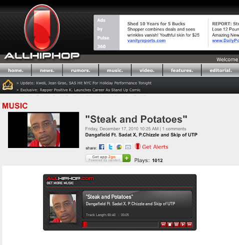 """STEAK AND POTATOES""ft/ Sadat X,Skip of UTP, and P Chizzle"