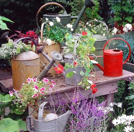 Con encanto en el exterior peque os detalles - Pequenos jardines con encanto ...